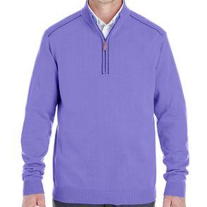Devon & Jones Manchester Fully-Fashioned Quarter-Zip Sweater