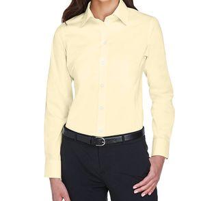 Devon & Jones Women's Crown Collection™ Solid Stretch Twill Button Up