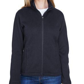 Devon & Jones Women's Bristol Zip Up Sweater Fleece Jacket