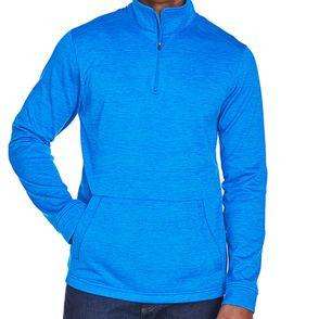 Devon & Jones Newbury Melange Fleece Quarter-Zip Pullover