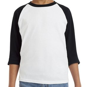Gildan KidsHeavy Cotton 3/4-Raglan Sleeve T-Shirt