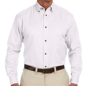 Harriton Men's Button Down Twill Shirt