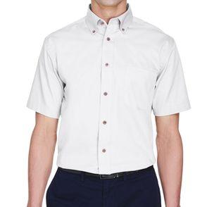 Harriton Easy Blend™ Twill Short Sleeve Button Down Shirt