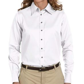 Harriton Women's Stain Resistant Button Up Shirt