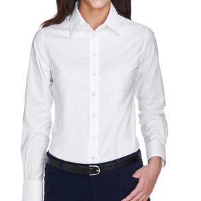 Harriton Women's Long Sleeve Oxford Shirt