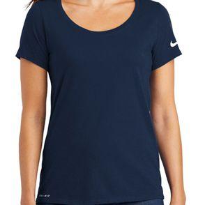 Nike Ladies Dri-FIT Cotton/Poly Scoop Neck Tee