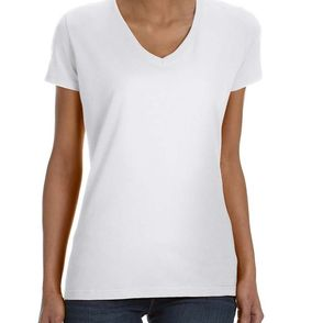 Fruit of the Loom Women's V-Neck T-Shirt
