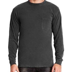 Next Level Inspired Dye Long Sleeve Pocket Shirt