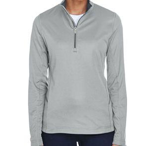 UltraClub Women's Cool & Dry Sport Quarter-Zip Pullover